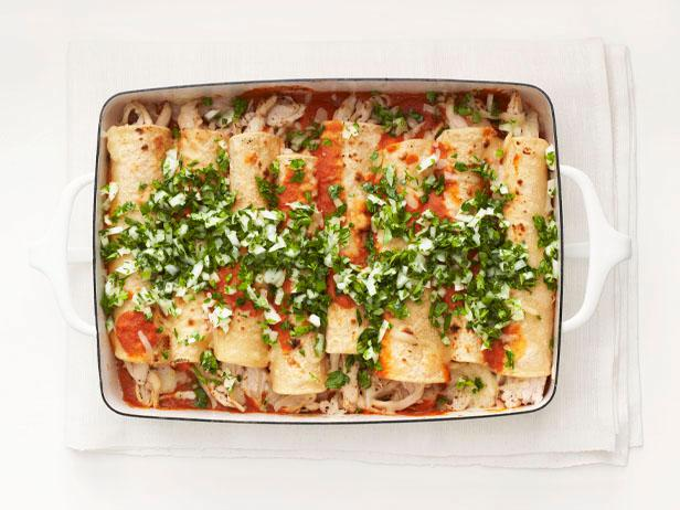 A day of healthy mexican food dinner and dessert light chicken enchiladas forumfinder Choice Image